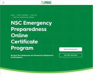 National Safety Council Emergency Preparedness Training